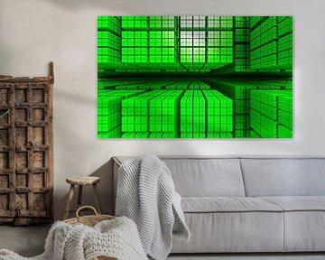 symmetrie in groene kubussen