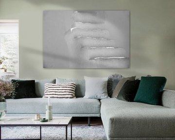 weiße Treppe von Jan Fritz