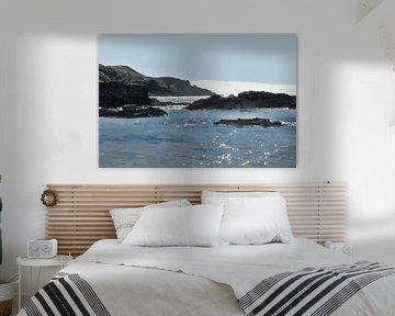 Nouvelle-Zélande - Bay of Islands - Silhouettes et plage - Peinture sur Schildersatelier van der Ven