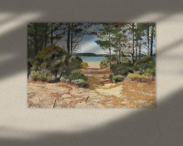 Landschap - Nieuw Zeeland - Houhora Heads - Aupouri - Schilderij