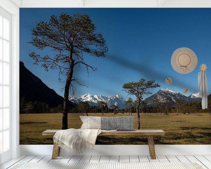Beispiel fototapete: Blick zur Zugspitze zwischen Oberau und Farchant von Andreas Müller
