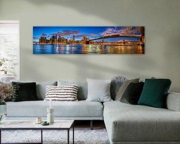 Ein HDR-Panorama von New York City