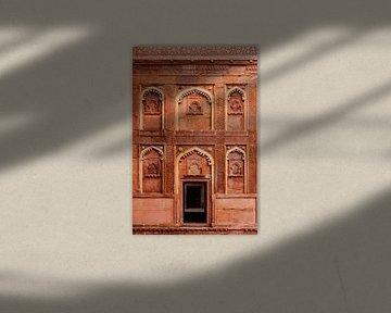 Fort d'Agra en Inde sur Yvette Baur