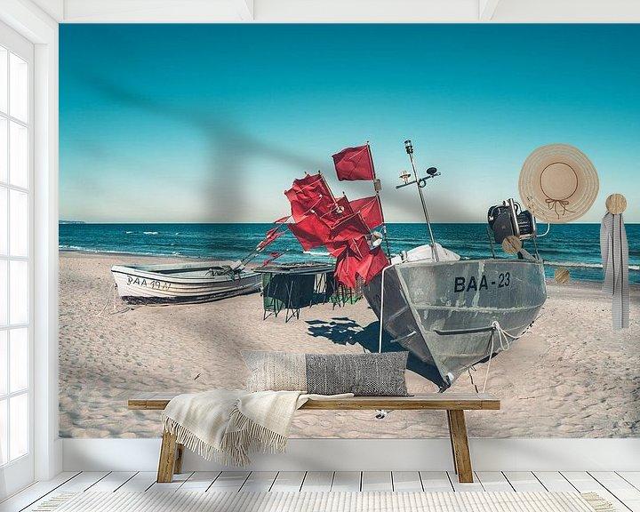 Beispiel fototapete: Fischerboote am Ostseestrand im Ostseebad Baabe auf der Insel Rügen von Mirko Boy