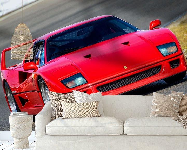 Sfeerimpressie behang: Ferrari F40 1980s sportwagen op het circuit van Sjoerd van der Wal