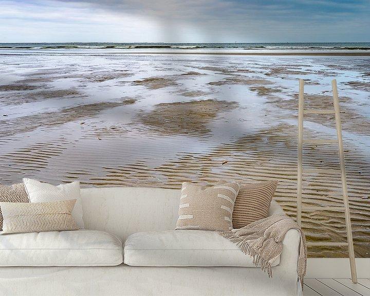 Beispiel fototapete: Ebbe und Flut am Strand von Ameland von Rob IJsselstein