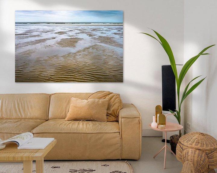 Beispiel: Ebbe und Flut am Strand von Ameland von Rob IJsselstein