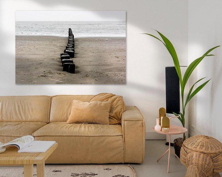 Beispiel: Wellenbrecher am Strand von Ameland von Rob IJsselstein