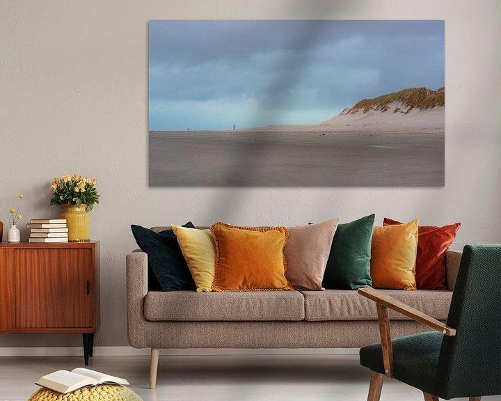Beispiel: Der Abend fällt über den Strand von Ameland von Rob IJsselstein