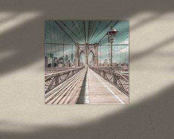 NEW YORK CITY Brooklyn Bridge | urbaner Vintage-Stil von Melanie Viola