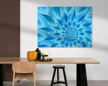 Blütenstern in Blau und Türkis von Claudia Gründler