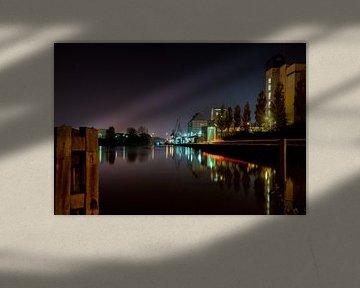 Industrie aan het Eindhovens kanaal sur Nacht fotografie