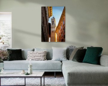 Blick auf Torre del Mangia, Siena, Toskana von The Book of Wandering