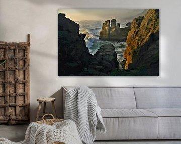 Landschaft - Neuseeland - Punakaiki - Gemälde von Schildersatelier van der Ven