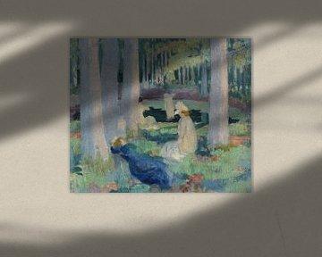 MAURICE DENIS, Im Wald (Baden / Schwimmen bei Mare aux Canes), 1898