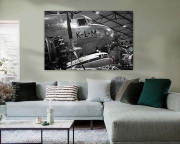 KLM Dc-2 Douglas in Hangar van Jaimy van Asperen