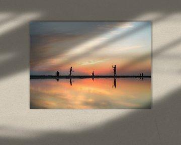 Zonsondergang Stand van Noordwijk van Jeanette van Starkenburg