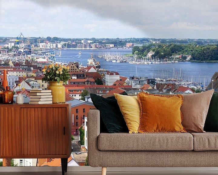 Beispiel fototapete: Blick über die Dächer der Hansestadt Rostock von Reiner Conrad