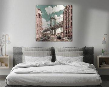 NEW YORK CITY Manhattan Brug | stedelijke vintage stijl van Melanie Viola