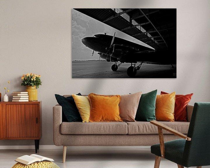 Sfeerimpressie: Rozijnenbommenwerper op de oude luchthaven Berlin-Tempelhof van Frank Herrmann