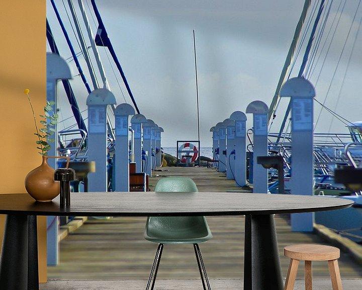 Beispiel fototapete: Yachthafen in Dänemark von Norbert Sülzner