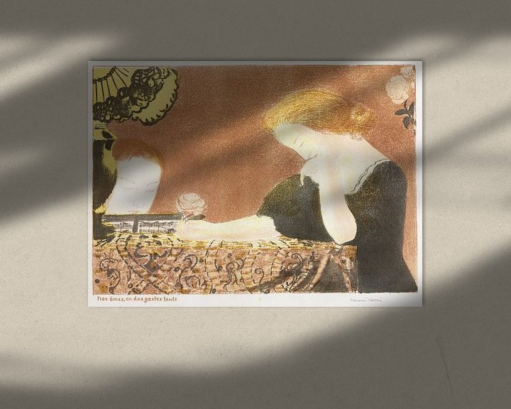 Beispiel: Unsere Seelen, in kleinen Gesten, Maurice Denis, Liebe - 1911 von Atelier Liesjes