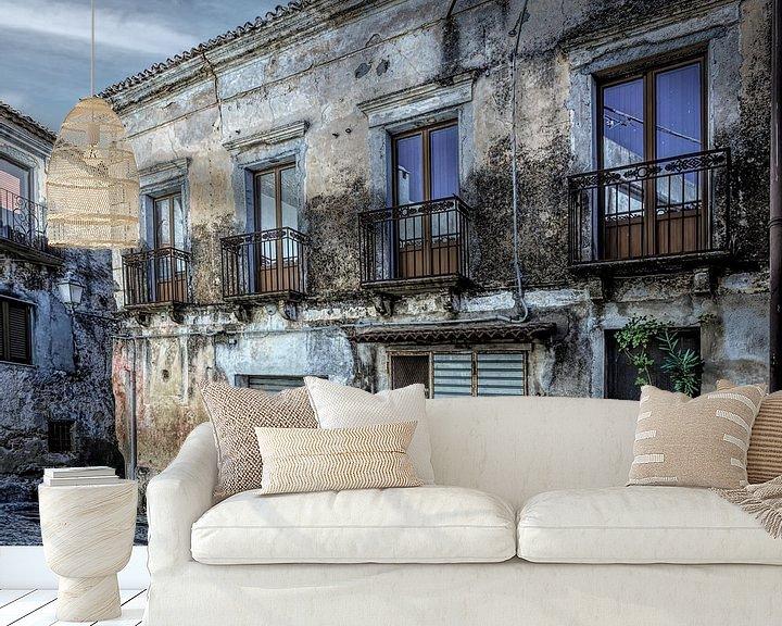 Beispiel fototapete: Haus mit Garage Italien Kalabrien von Dick Jeukens