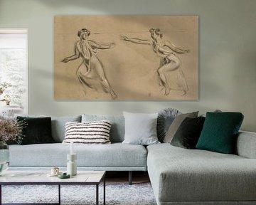 Zwei nach links laufende Frauen, Maurice Denis von Atelier Liesjes