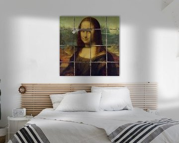 Mona Lisa - The Bad Tiling Edition van Marja van den Hurk