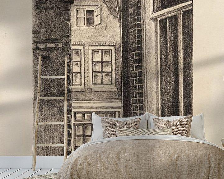 Beispiel fototapete: Amsterdam, Doorkijkje, Meijer Bleekrode, 1928 von Atelier Liesjes