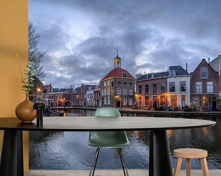 Beispiel fototapete: Das Gepäckträgerhaus, Schiedam, Niederlande von Hans Kool