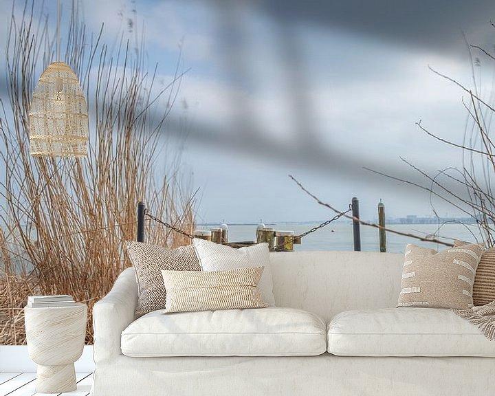 Beispiel fototapete: Durgerdam-Anleger von Frans Nijland