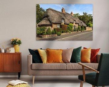 Englisches Cottage mit Reetdach, in Cambridgeshire, England von Mieneke Andeweg-van Rijn
