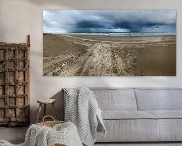 Panoramafoto kustlijn van Apple Brenner