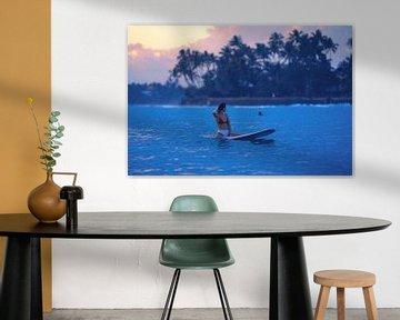 Sunset Surf van Ward Jonkman