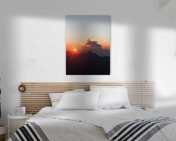 zonsopkomst vanaf de heilige berg van Ward Jonkman