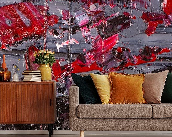 Beispiel fototapete: rot & grau von Jan Fritz