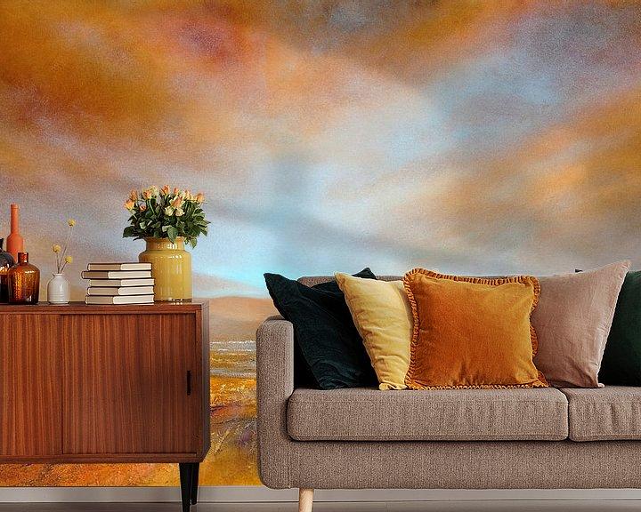 Sfeerimpressie behang: Herfst licht van Annette Schmucker