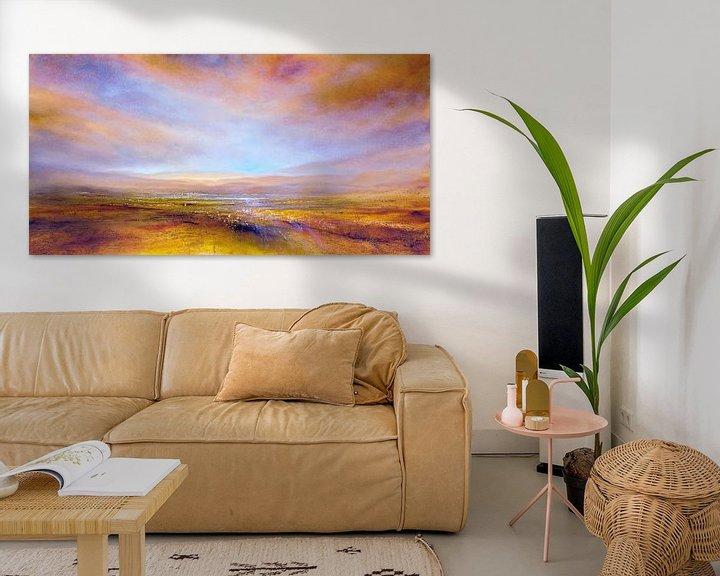 Sfeerimpressie: Het licht: geel, roze en paars van Annette Schmucker