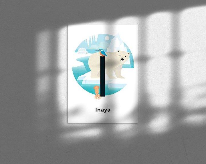 Beispiel: Namensschild Inaya von Hannahland .