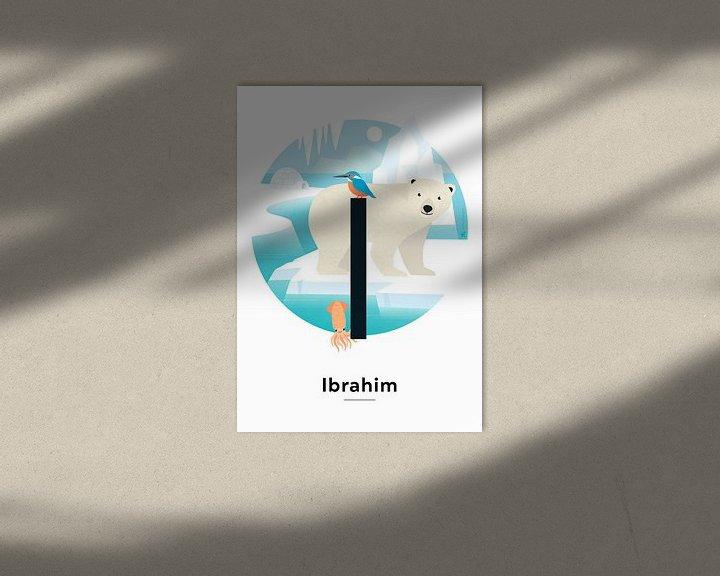 Beispiel: Namensschild Ibrahim von Hannahland .