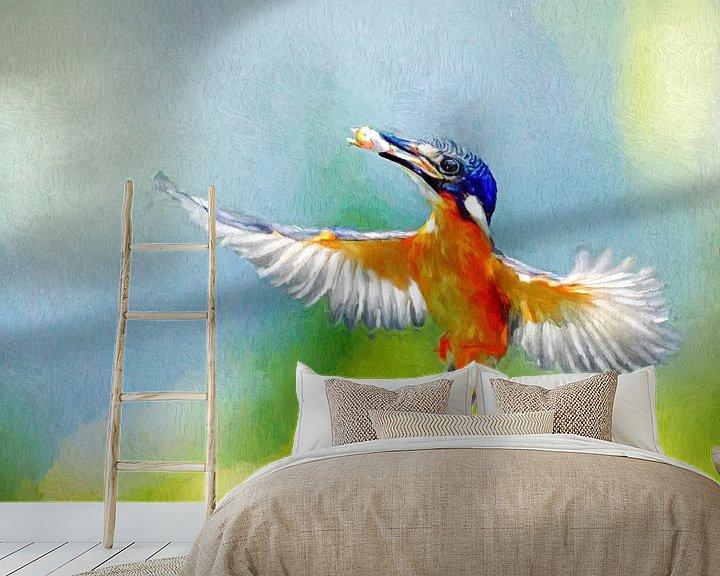 Beispiel fototapete: Malteisvogel mit Beute von Arjen Roos