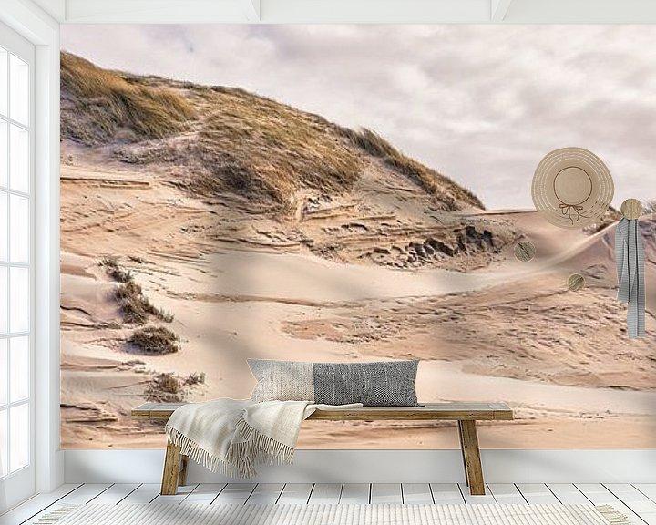 Sfeerimpressie behang: Natuurbeeld van dynamische duingebieden van eric van der eijk
