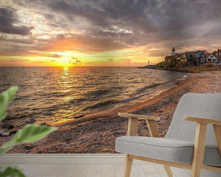 Sfeerimpressie behang: Urker strand van Wilma Wijnen
