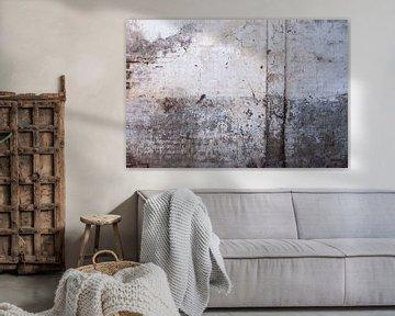 Verweerde muur in grijs en creme wit tinten van Affect Fotografie