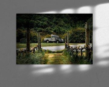 Verlassener Land Rover auf einem Weingut in Neuseeland. von Niels Rurenga