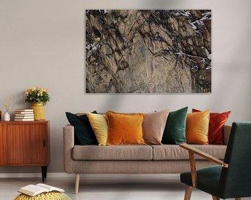 Rotswand in de Himalaya van Affect Fotografie
