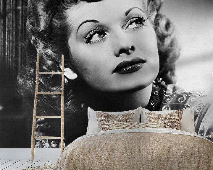 Sfeerimpressie behang: Lucille Ball van Brian Morgan