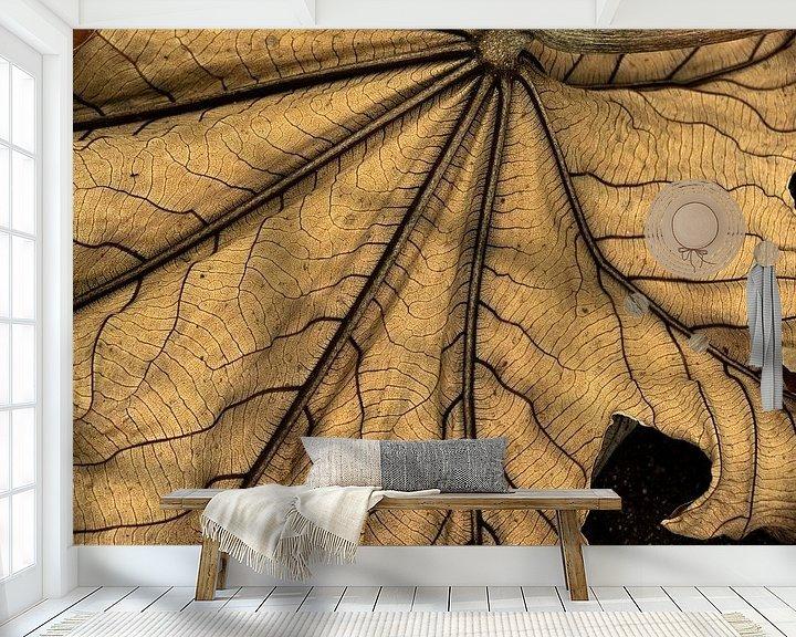 Sfeerimpressie behang: Reuzenblad van Carla van Zomeren