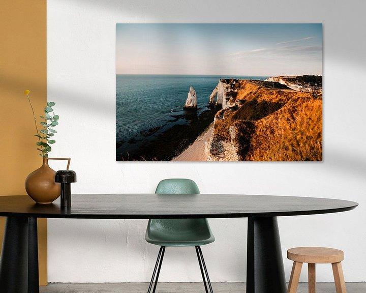 Sfeerimpressie: Franse kust met zonsondergang van Lindy Schenk-Smit